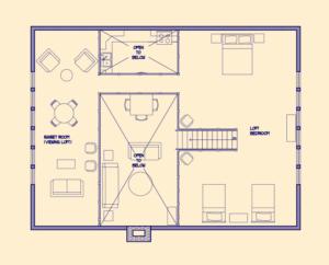 Cabin Loft Floorplan
